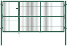 Hommoo Garden Fence Gate with Posts 350x140 cm