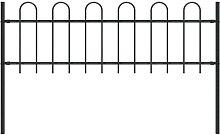 Hommoo Garden Fence with Hoop Top Steel 1.7x0.6 m