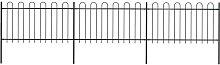 Hommoo Garden Fence with Hoop Top Steel 5.1x1 m