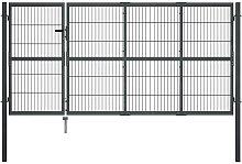 Hommoo Garden Gate with Posts Steel 350x120 cm