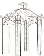 Hommoo Garden Pavilion Antique Brown 3 m Iron
