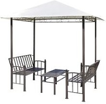 Hommoo Garden Pavilion with Table and Benches