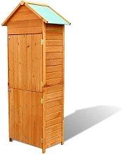 Hommoo Garden Storage Cabinet Brown 79x49x190 cm