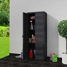 Hommoo Garden Storage Cabinet with 3 Shelves Black