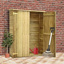 Hommoo Garden Tool Shed 123x50x171 cm Impregnated