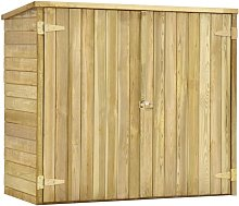 Hommoo Garden Tool Shed 135x60x123 cm Impregnated