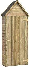 Hommoo Garden Tool Shed with Door 77x37x178 cm