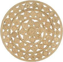 Hommoo Handmade Rug Braided Jute 120 cm