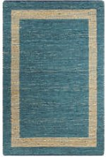 Hommoo Handmade Rug Jute Blue 160x230 cm VD02654