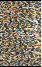 Hommoo Handmade Rug Jute Blue and Natural 80x160