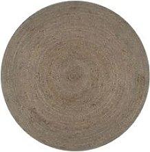 Hommoo Handmade Rug Jute Round 150 cm Grey VD02582