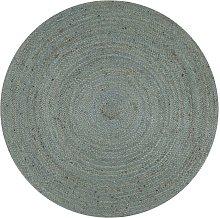 Hommoo Handmade Rug Jute Round 150 cm Olive Green