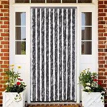 Hommoo Insect Curtain Grey and White 90x220 cm