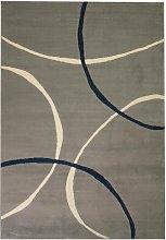 Hommoo Modern Rug Circle Design 80x150 cm Grey