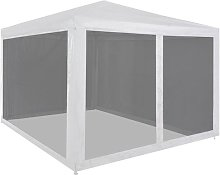 Hommoo Party Tent with 4 Mesh Sidewalls 3x3 m