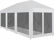 Hommoo Party Tent with 8 Mesh Sidewalls 9x3 m