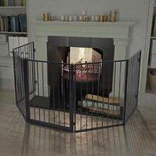 Hommoo Pet Fireplace Fence Steel Black VD09368