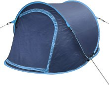 Hommoo - Pop-up Camping Tent 2 Persons Navy Blue /