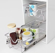 Hommoo Pull-Out Wire Baskets 2 pcs Silver 300 mm