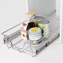 Hommoo Pull-Out Wire Baskets 2 pcs Silver 400 mm