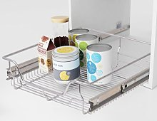 Hommoo Pull-Out Wire Baskets 2 pcs Silver 500 mm
