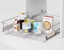 Hommoo Pull-Out Wire Baskets 2 pcs Silver 600 mm