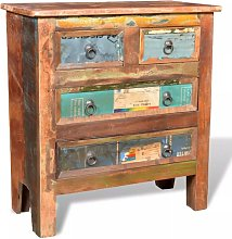 Hommoo Reclaimed Cabinet Solid Wood with 4 Drawers