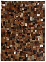 Hommoo Rug Genuine Leather Jeans Label Patchwork
