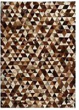 Hommoo Rug Genuine Leather Patchwork 80x150 cm