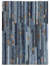 Hommoo Rug Jeans Waistband Patchwork 160x230 cm
