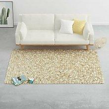 Hommoo Rug Wool Felt Pebble 140x200 cm