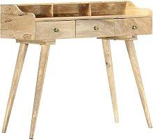Hommoo Secretary Desk 90x45x86 cm Solid Mango Wood