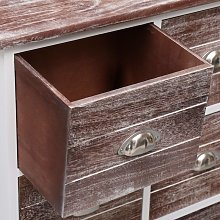 Hommoo Side Cabinet with 6 Drawers Brown 60x30x75