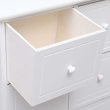 Hommoo Side Cabinet with 6 Drawers White 60x30x75