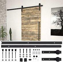 Hommoo Sliding Door Hardware Kit 183 cm Steel