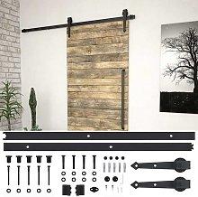 Hommoo Sliding Door Hardware Kit 200 cm Steel