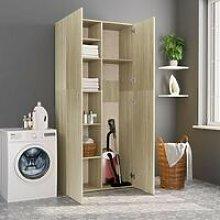Hommoo Storage Cabinet Sonoma Oak 80x35.5x180 cm