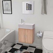 Hommoo Three Piece Bathroom Furniture and Basin