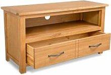 Hommoo TV Cabinet 90x35x48 cm Solid Oak Wood