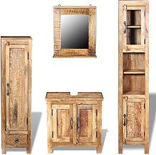 Hommoo Vanity Cabinet with Mirror and 2 Side
