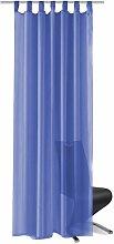 Hommoo Voile Curtains 2 pcs 140x175 cm Royal Blue