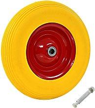 Hommoo Wheelbarrow Wheel with Axle Solid PU 4.00-8