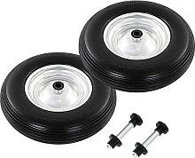 Hommoo Wheelbarrow Wheels 2 pcs with Axles Solid