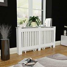 Hommoo - White MDF Radiator Cover Heating Cabinet