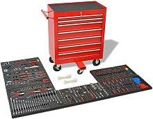 Hommoo Workshop Tool Trolley with 1125 Tools Steel