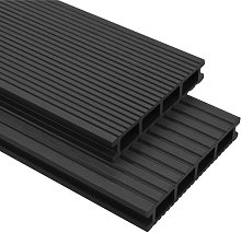 Hommoo WPC Decking Boards with Accessories 20 m2