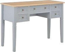 Hommoo Writing Desk Grey 109.5x45x77.5 cm Wood