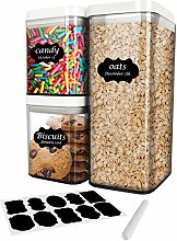 HomRealm Cereal Storage Containers with Lids Set