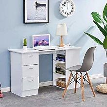 Homsailing EU Computer Desk with 3 Shelves 3