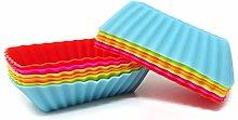 Honbay 12PCS Silicone Rectangular Reusable Cake